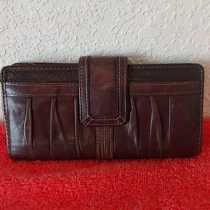 Fossil Vintage Brown Leather Wallet